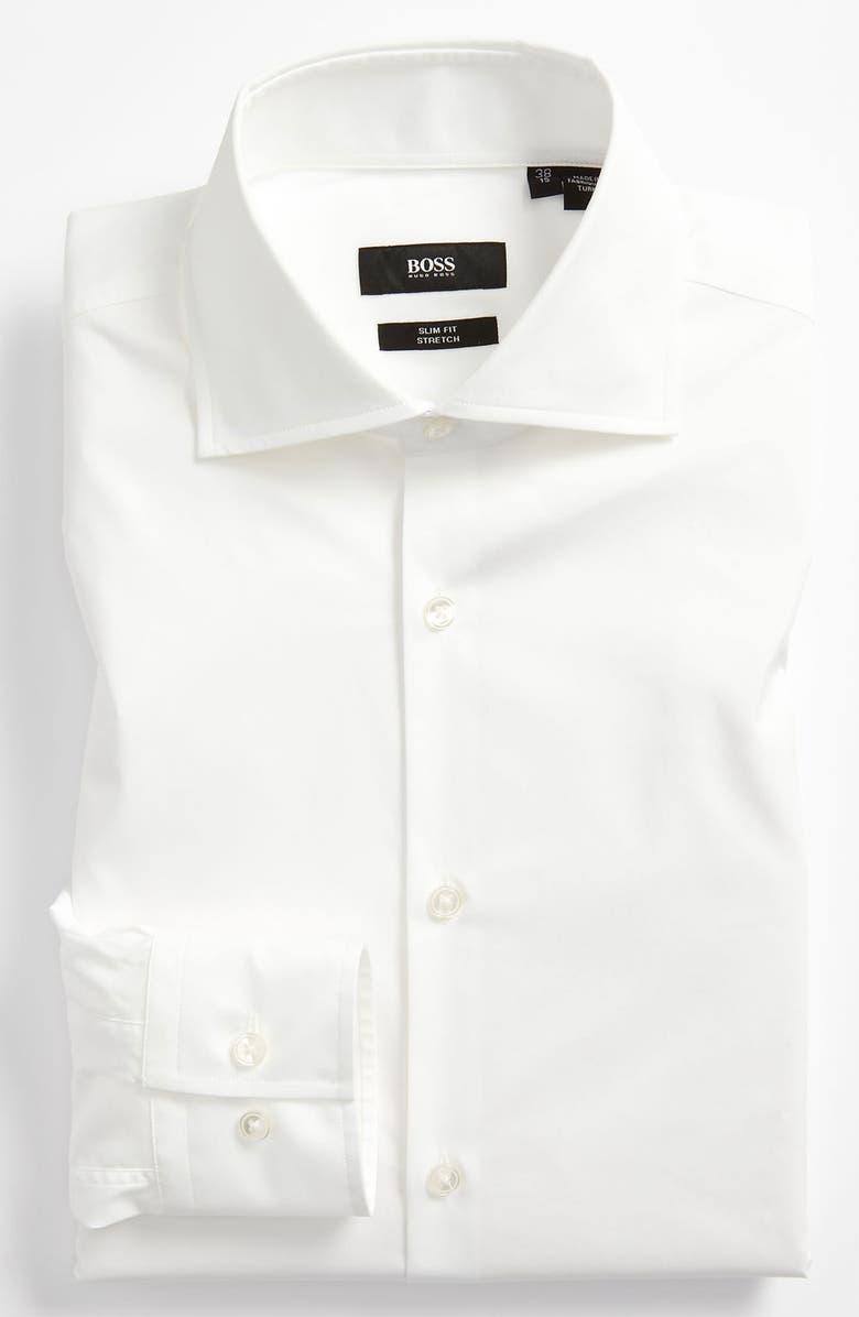 BOSS 'Jaron' WW Slim Fit Dress Shirt, Main, color, 100