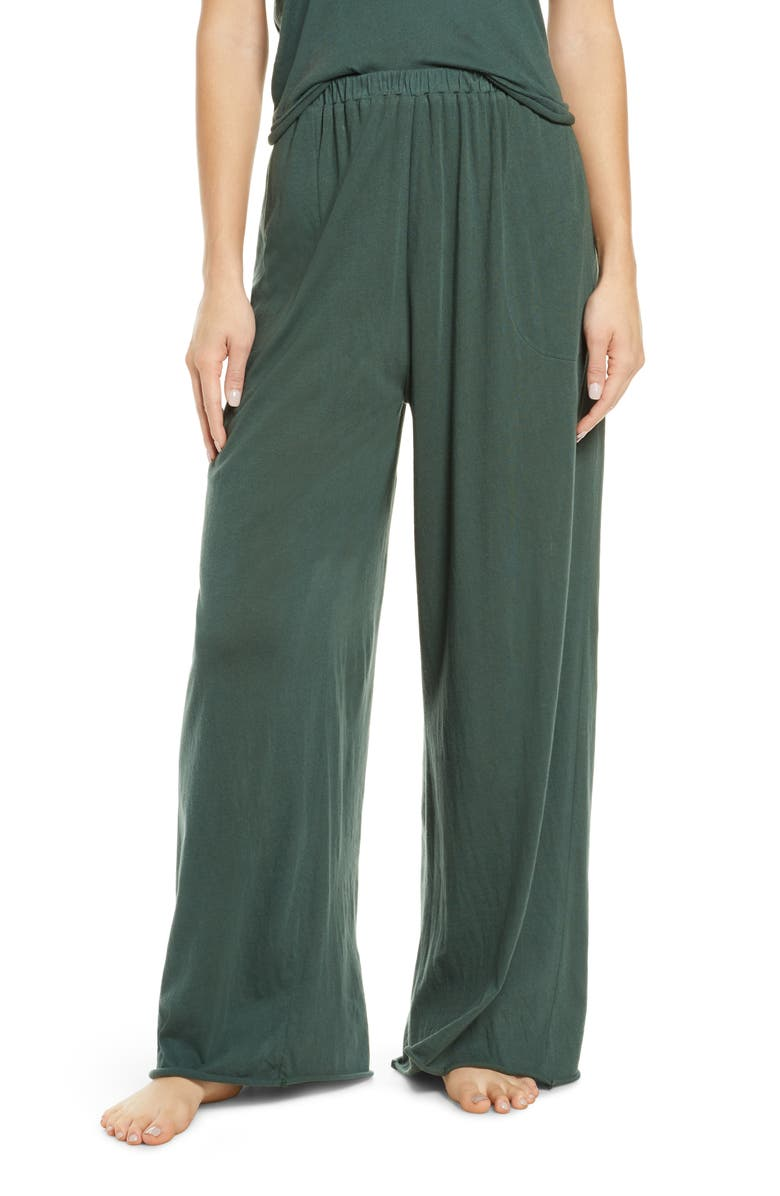 THE GREAT. The Wide Leg Lounge Pants, Main, color, ALPINE