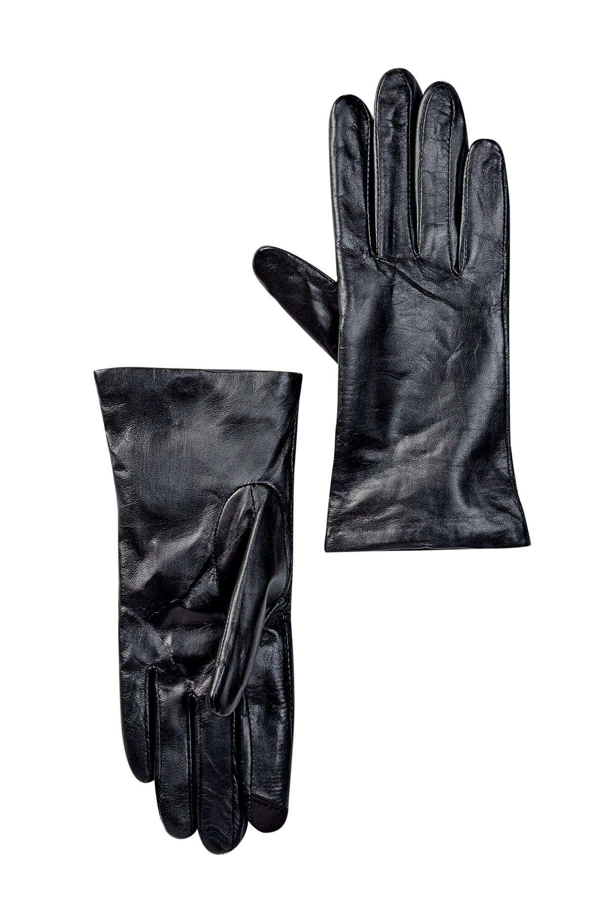 Image of Fownes Bros Touchpoint Cashmere Lined Leather Smart Gloves