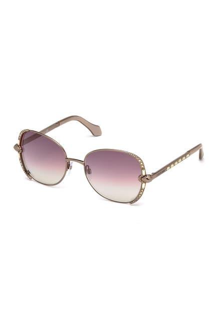 Image of Roberto Cavalli Subra Square 56mm Sunglasses