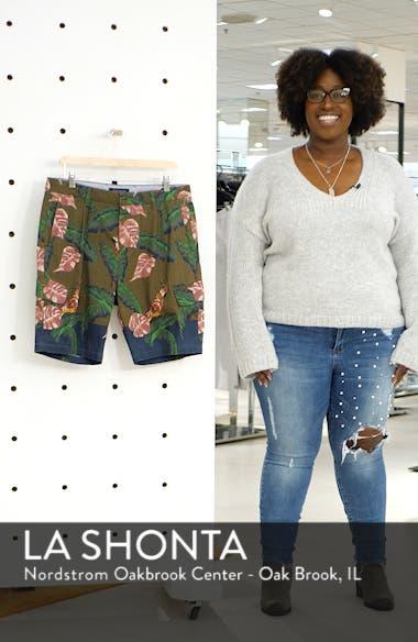 Tropical Print Cargo Shorts, sales video thumbnail