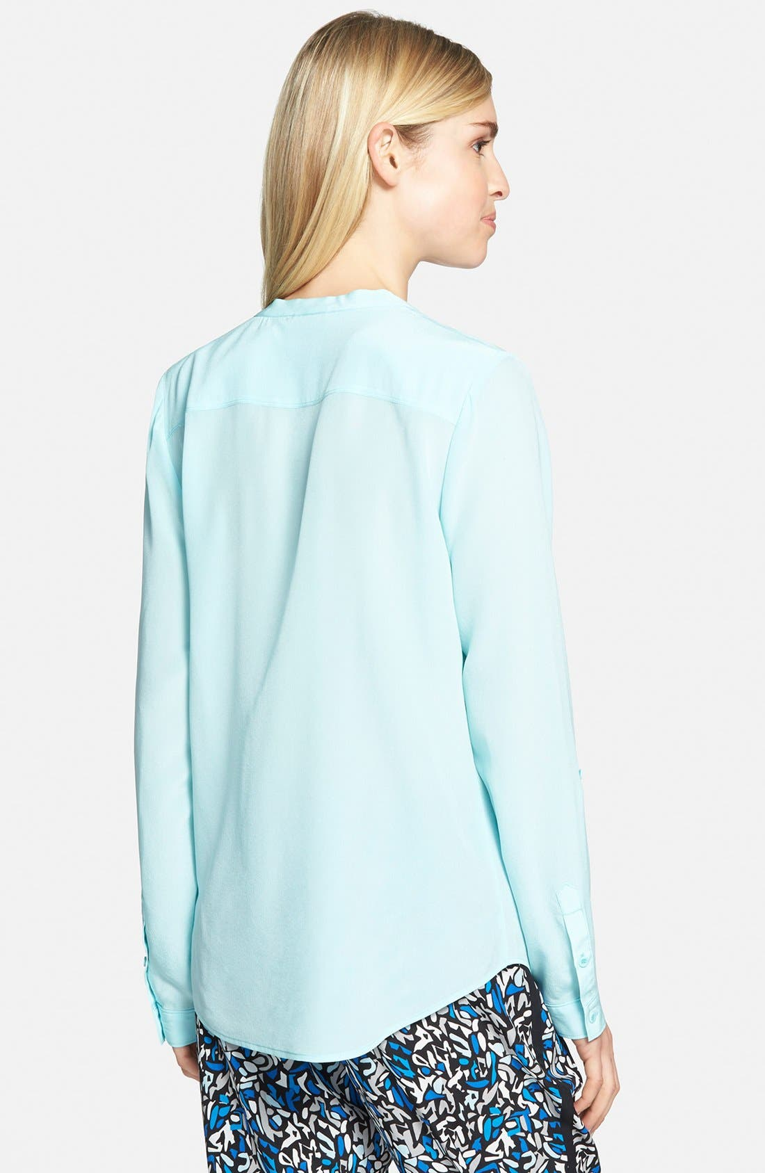 ,                             Collarless Silk Blouse,                             Alternate thumbnail 59, color,                             450