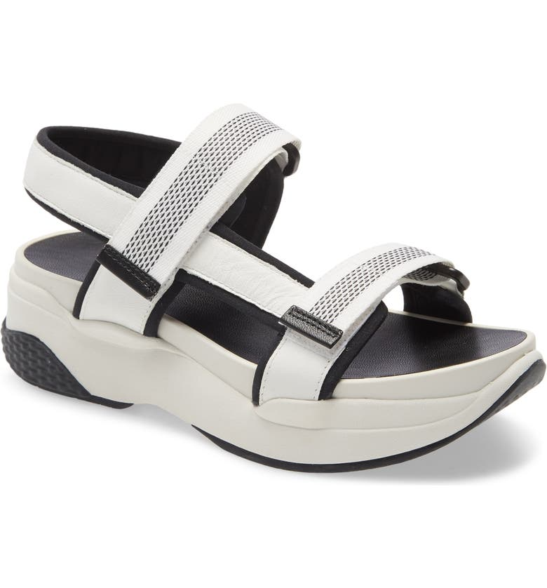 VAGABOND SHOEMAKERS Lori Sandal, Main, color, WHITE/ BLACK LEATHER