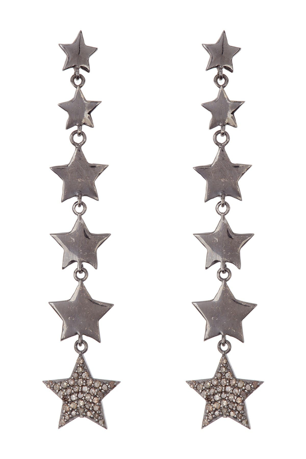 ADORNIA Fine Diamond Star Drop Earrings - 0.70 ctw