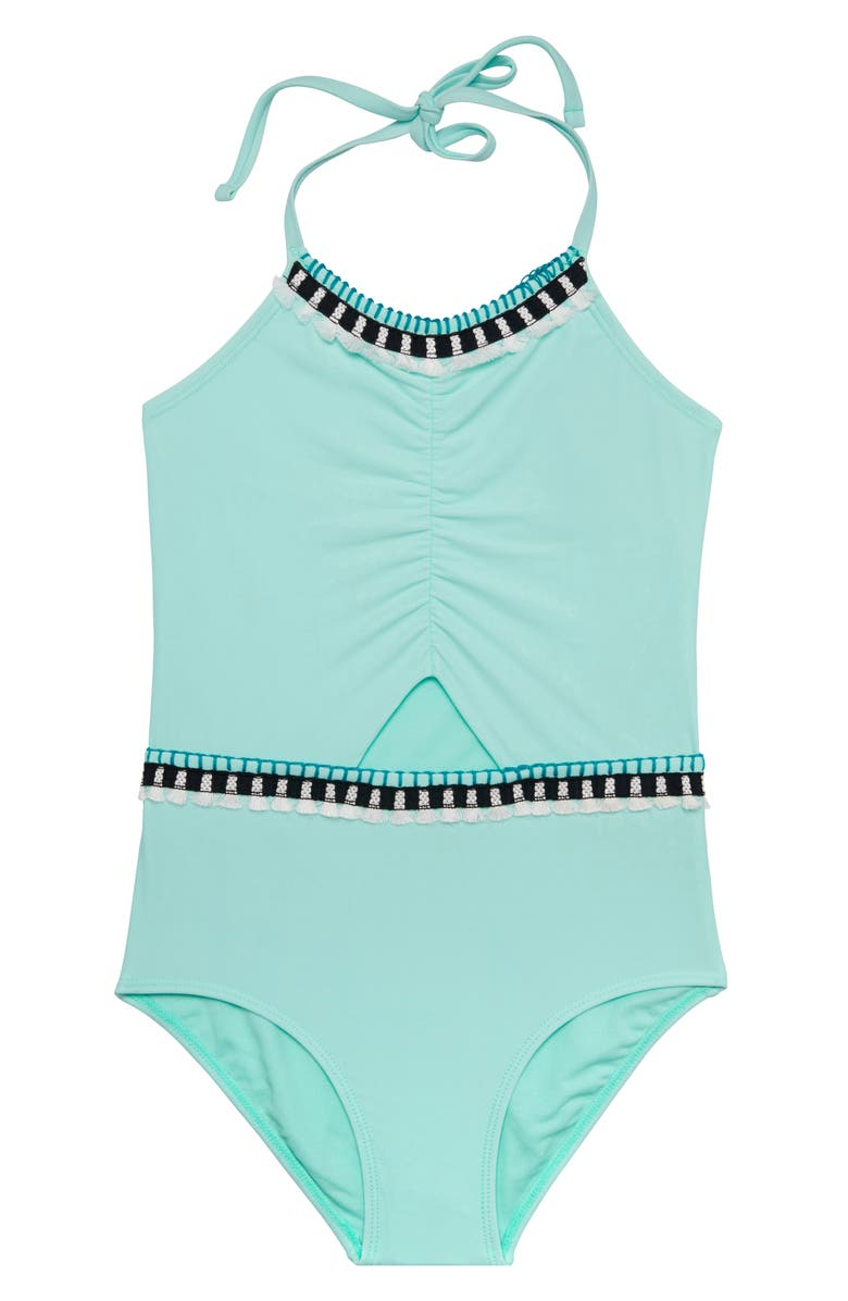 GOSSIP GIRL Tassel Party One-Piece Swimsuit, Main, color, 400