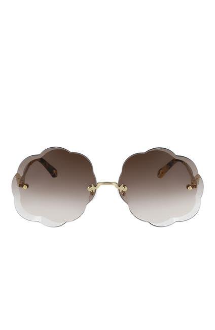 Image of Chloe Rosie Scalloped Edge 67mm Sunglasses