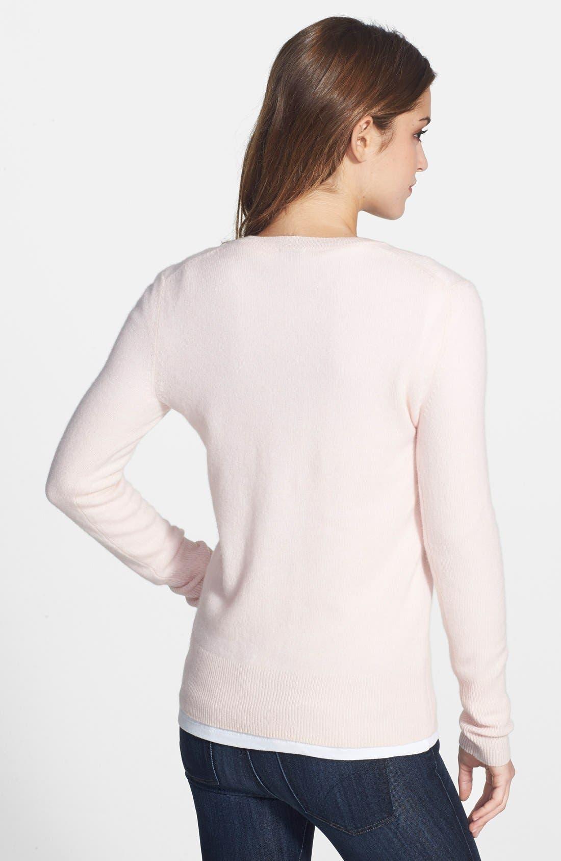 ,                             Cashmere V-Neck Sweater,                             Alternate thumbnail 77, color,                             651
