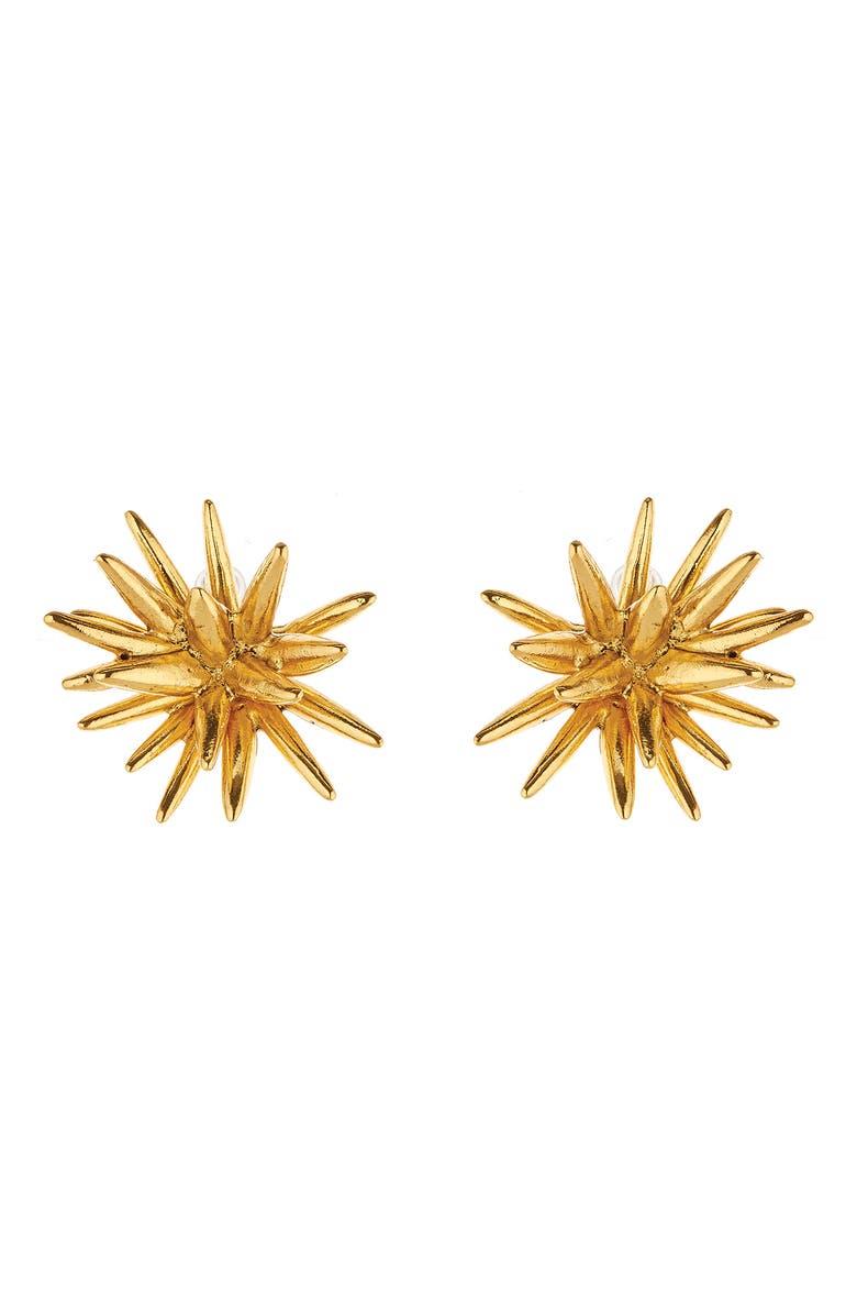 OSCAR DE LA RENTA Star Earrings, Main, color, GOLD