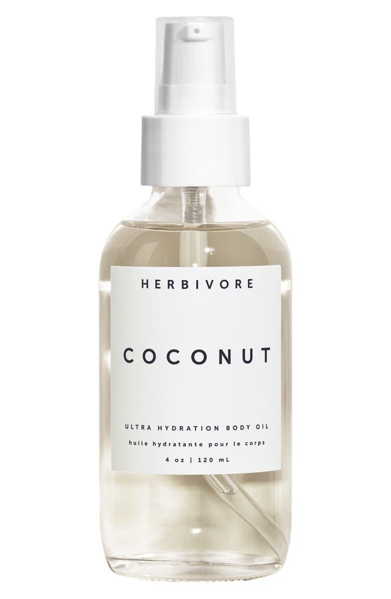 HERBIVORE BOTANICALS Coconut Ultra Hydration Body Oil, Main, color, NO COLOR