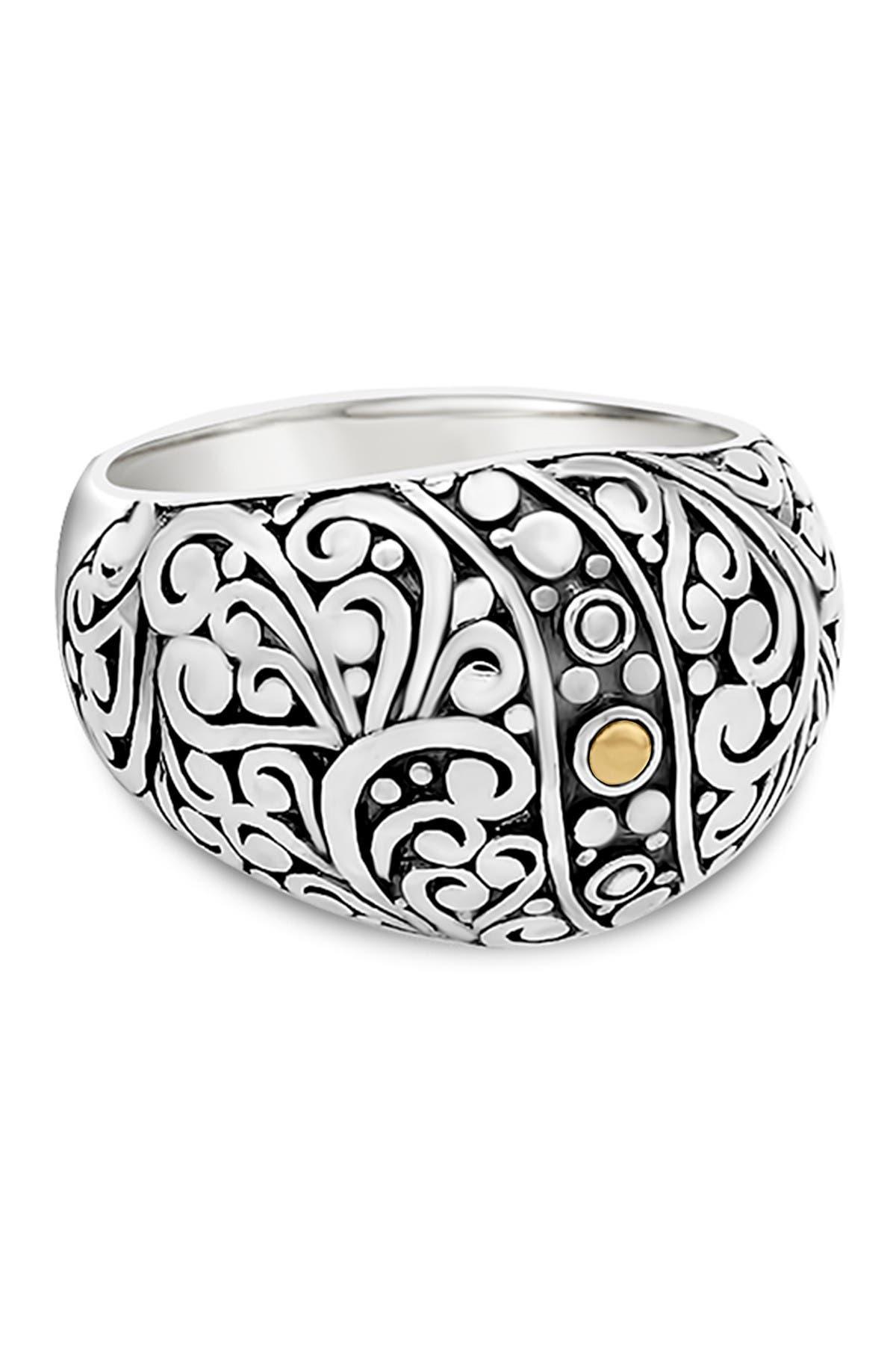 Image of DEVATA Sterling Silver Bali Filigree Dome Ring