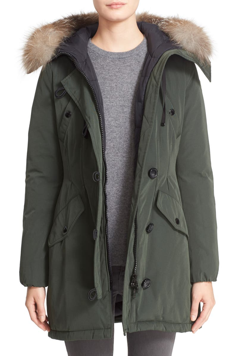 a7135af3a9b Aredhel Hooded Down Parka with Removable Genuine Fox Fur Trim