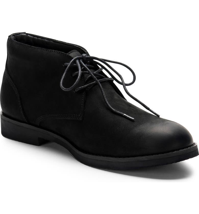 BLONDO Gary Waterproof Chukka Boot, Main, color, BLACK NUBUCK