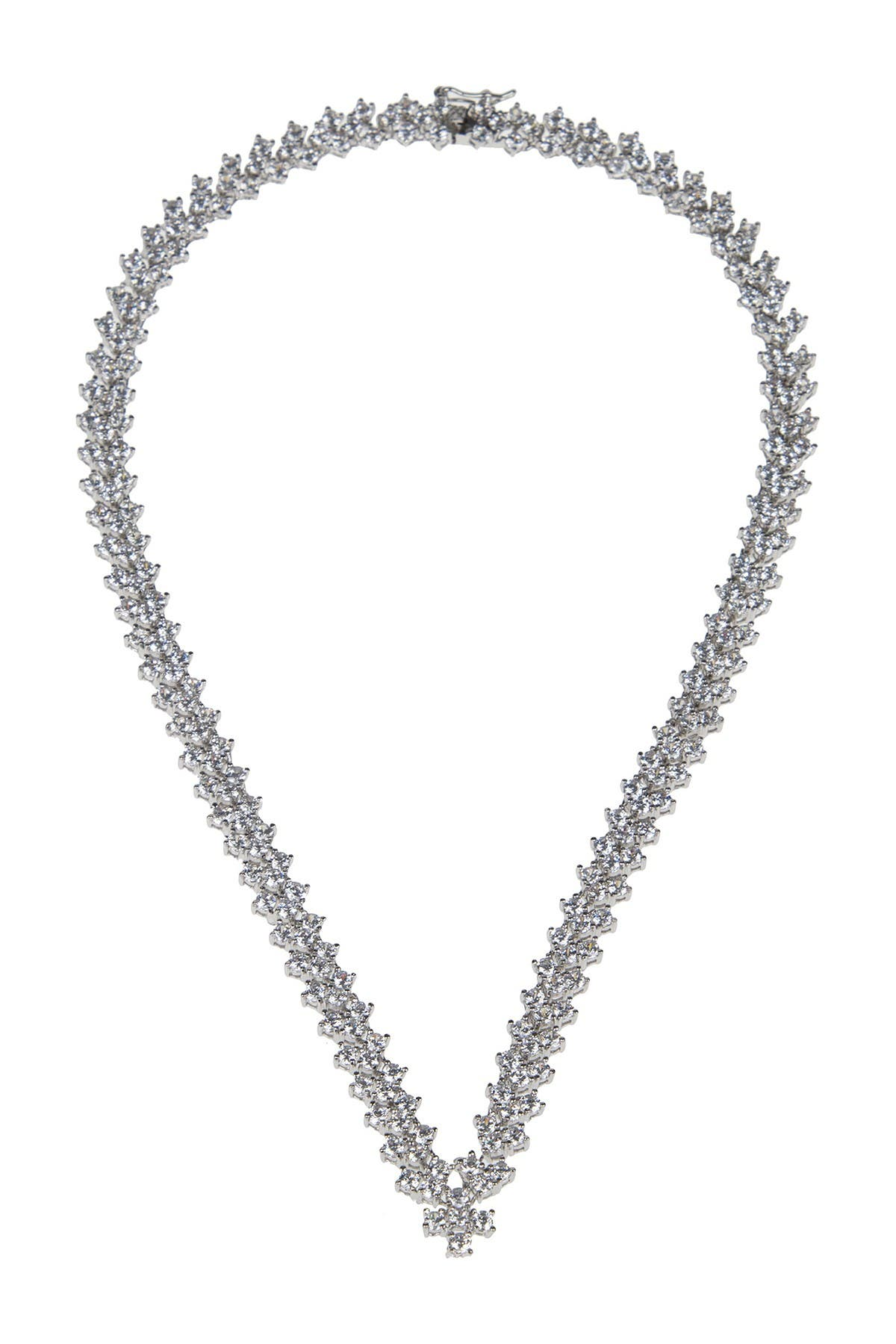 Image of CZ By Kenneth Jay Lane Cluster CZ Necklace