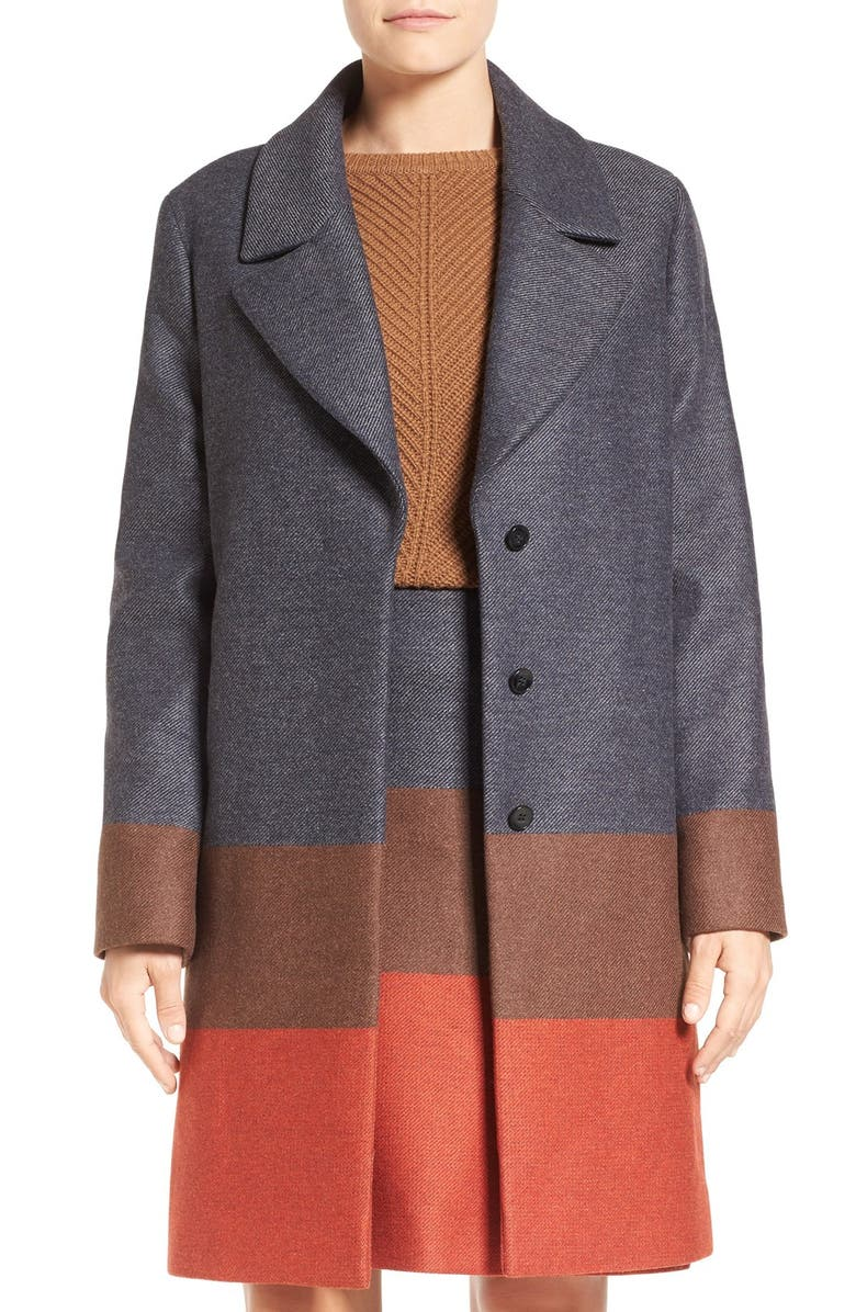 BOSS 'Colora' Long Wool Blend Jacket, Main, color, 601
