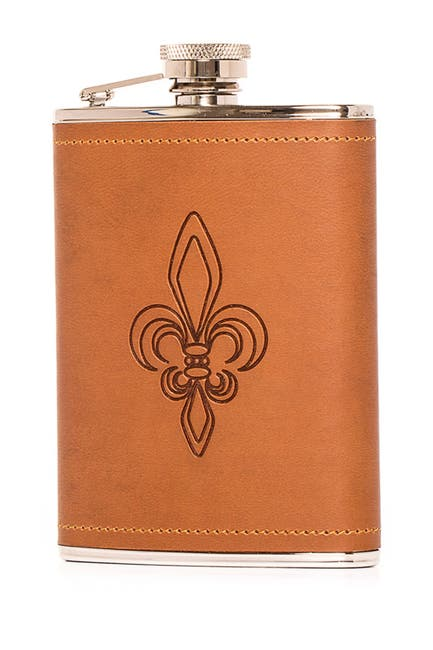 Image of Brouk & Co The Art of Flasking 6 oz. Brown Flask