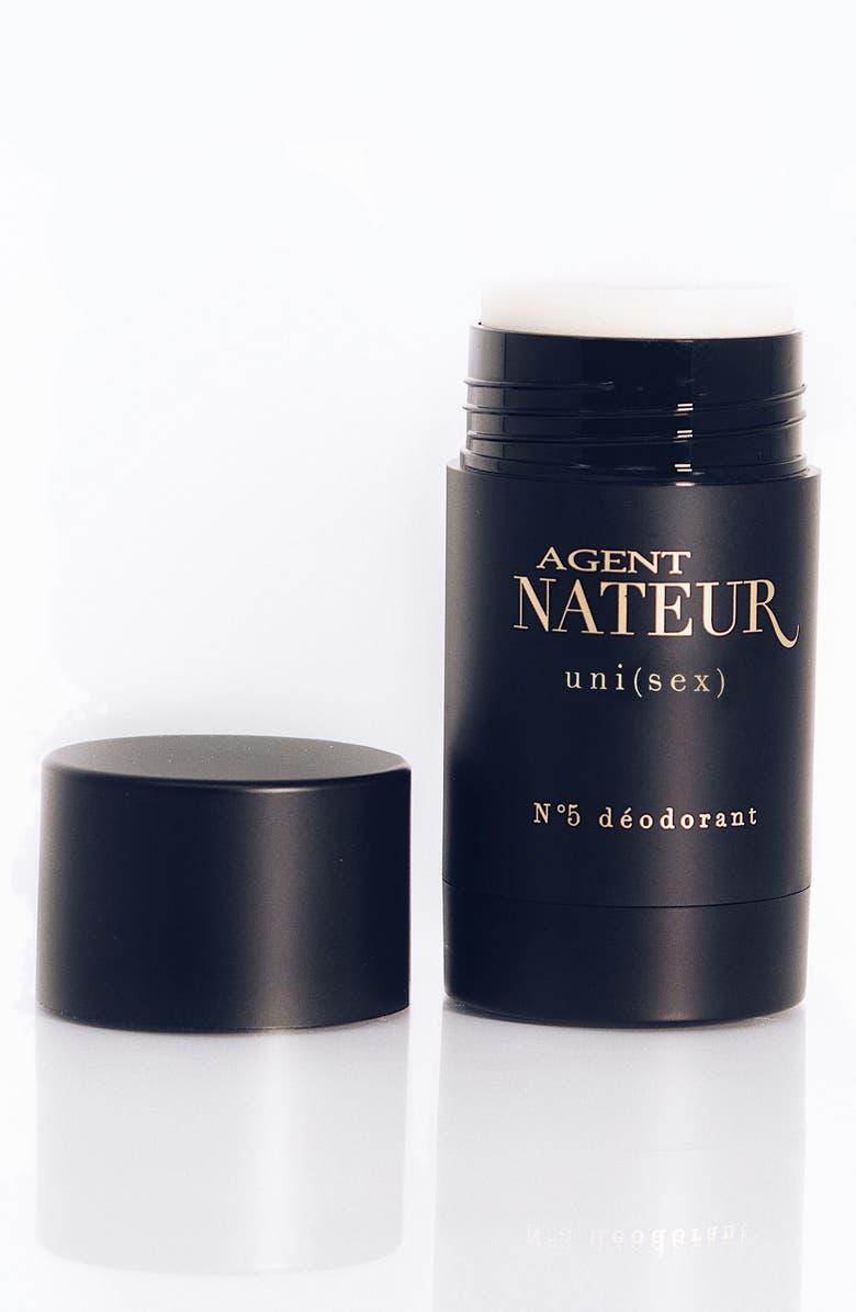 AGENT NATEUR uni(sex) No. 5 Natural Deodorant, Main, color, BLACK