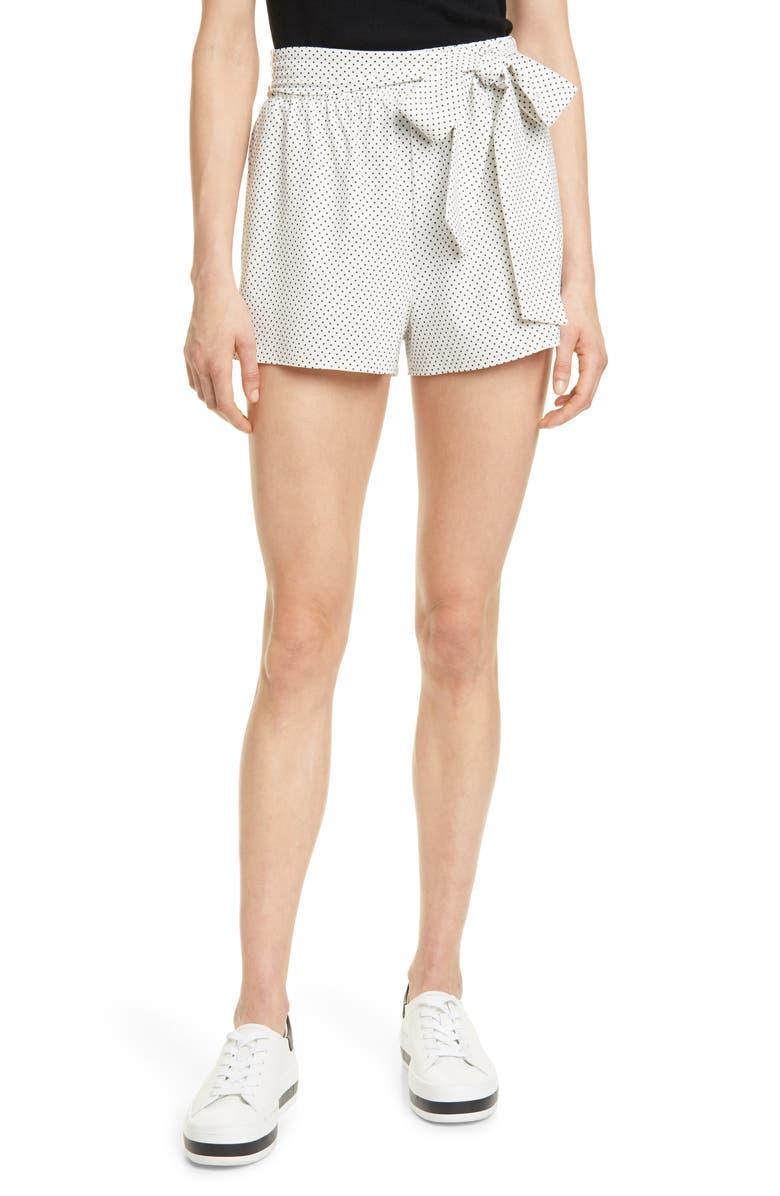 ALICE + OLIVIA Linn Tie Waist Shorts, Main, color, 117