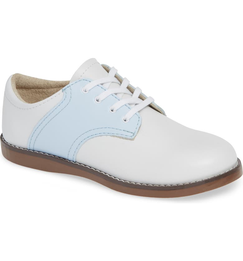 FOOTMATES Cheer Oxford, Main, color, WHITE/ LIGHT BLUE
