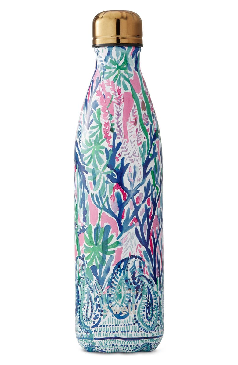 S'WELL x Lilly Pulitzer<sup>®</sup> Jet Stream 25-Ounce Stainless Steel Water Bottle, Main, color, 100