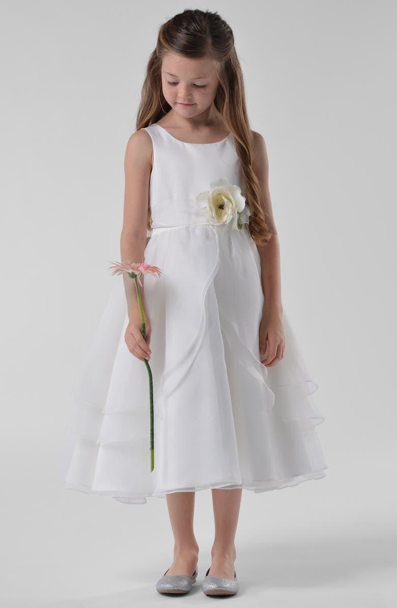 US ANGELS 'Petal' Dress, Main, color, IVORY