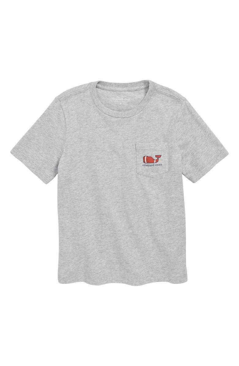 VINEYARD VINES Heathered Football Whale Pocket T-Shirt, Main, color, 039