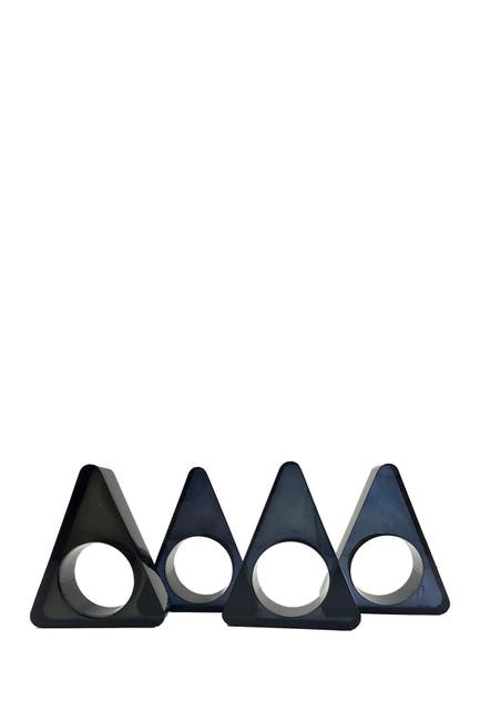 Image of R16 HOME Smoke Grey Triangle Napkin Ring