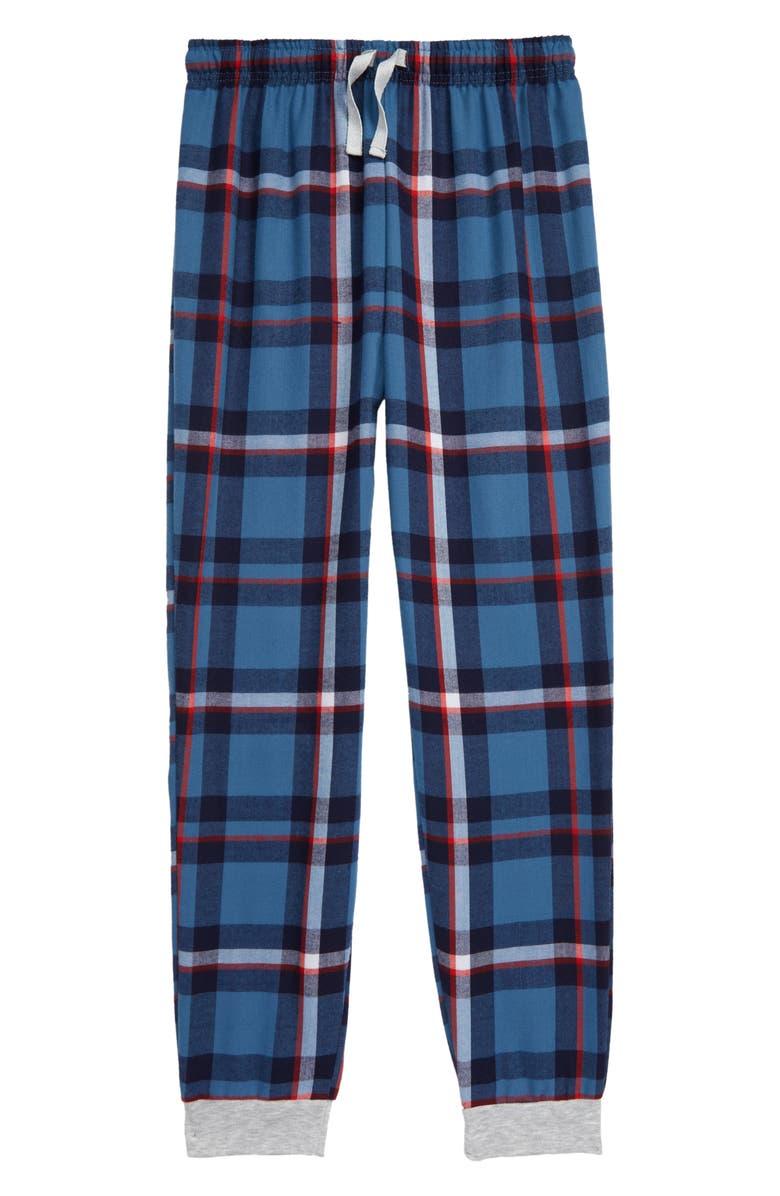 TUCKER + TATE Flannel Jogger Pants, Main, color, BLUE COPEN- NAVY PLAID
