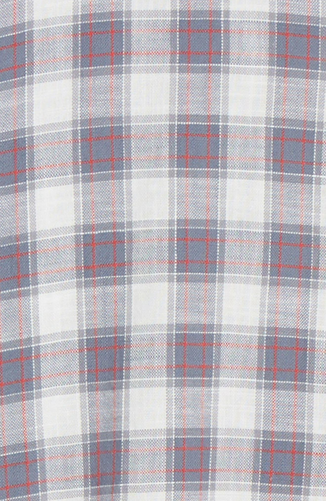 ,                             Wyatt Regular Fit Plaid Sport Shirt,                             Alternate thumbnail 6, color,                             OCEAN TANGERINE