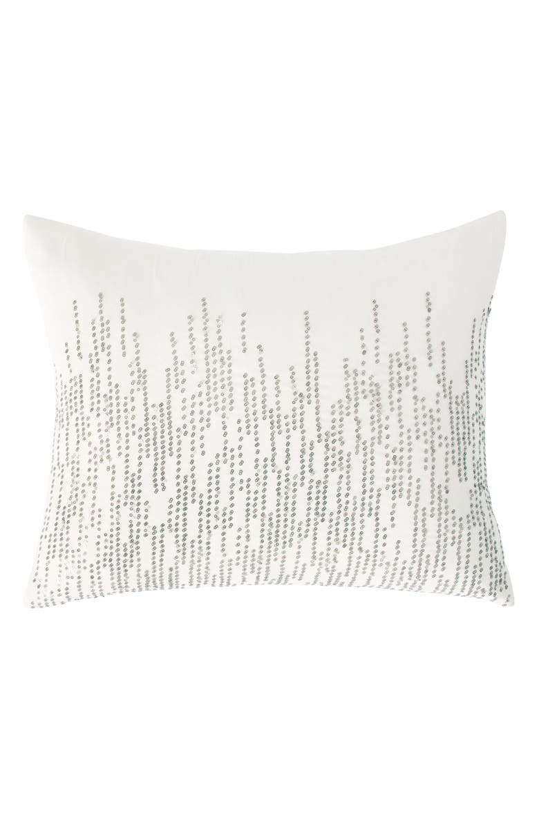 DONNA KARAN NEW YORK Alloy Mesh Sequin Accent Pillow, Main, color, IVORY