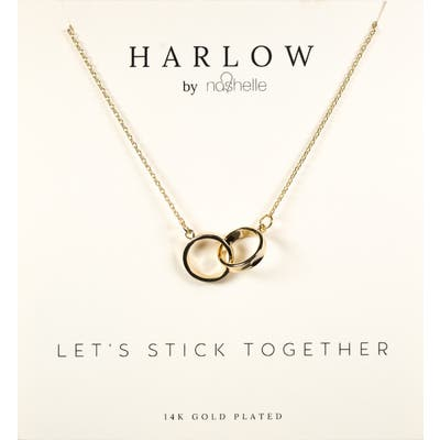 Harlow By Nashelle Interlocking Circles Boxed Necklace