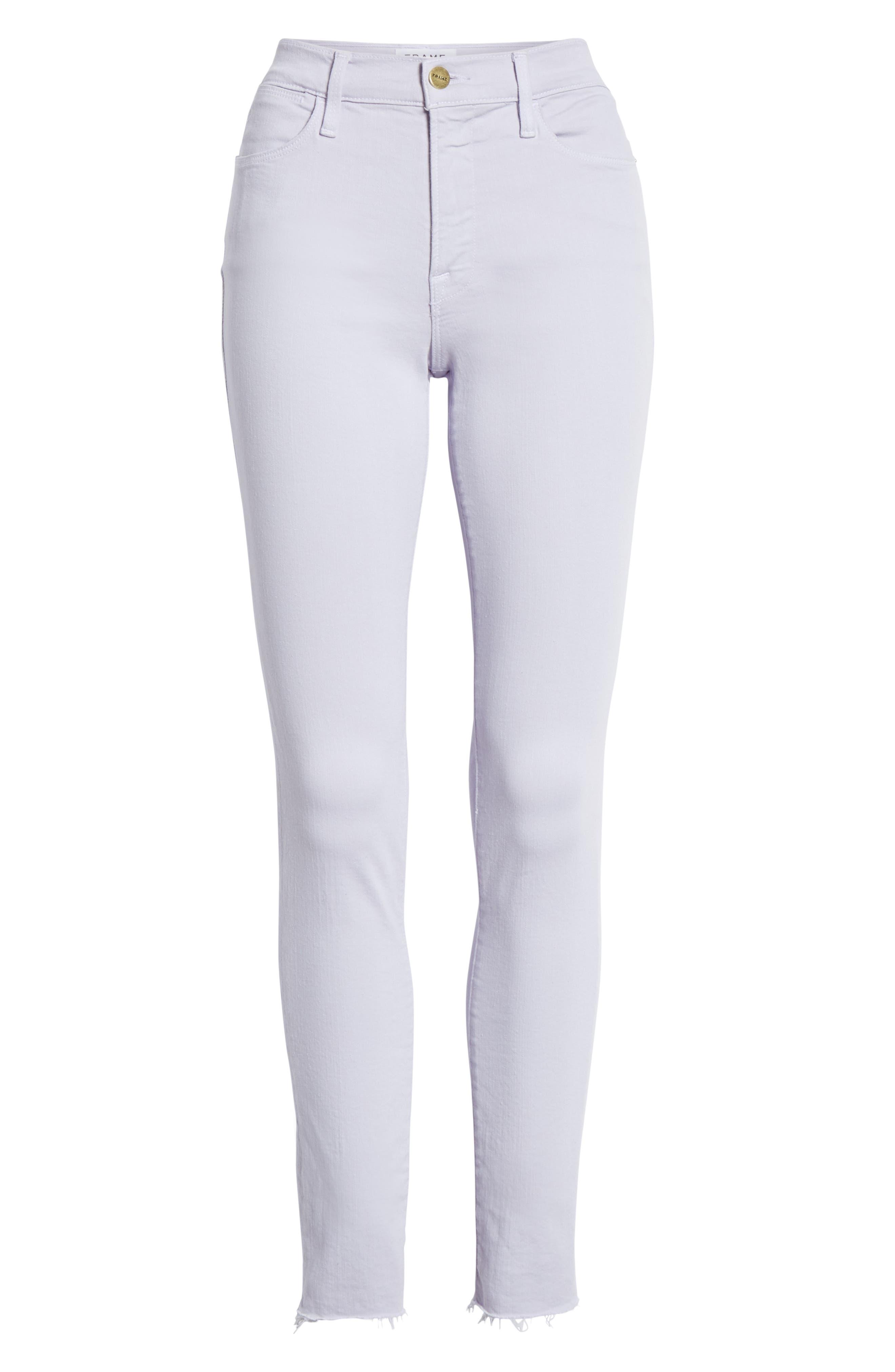 ,                             Le High Raw Hem Ankle Skinny Jeans,                             Alternate thumbnail 7, color,                             530