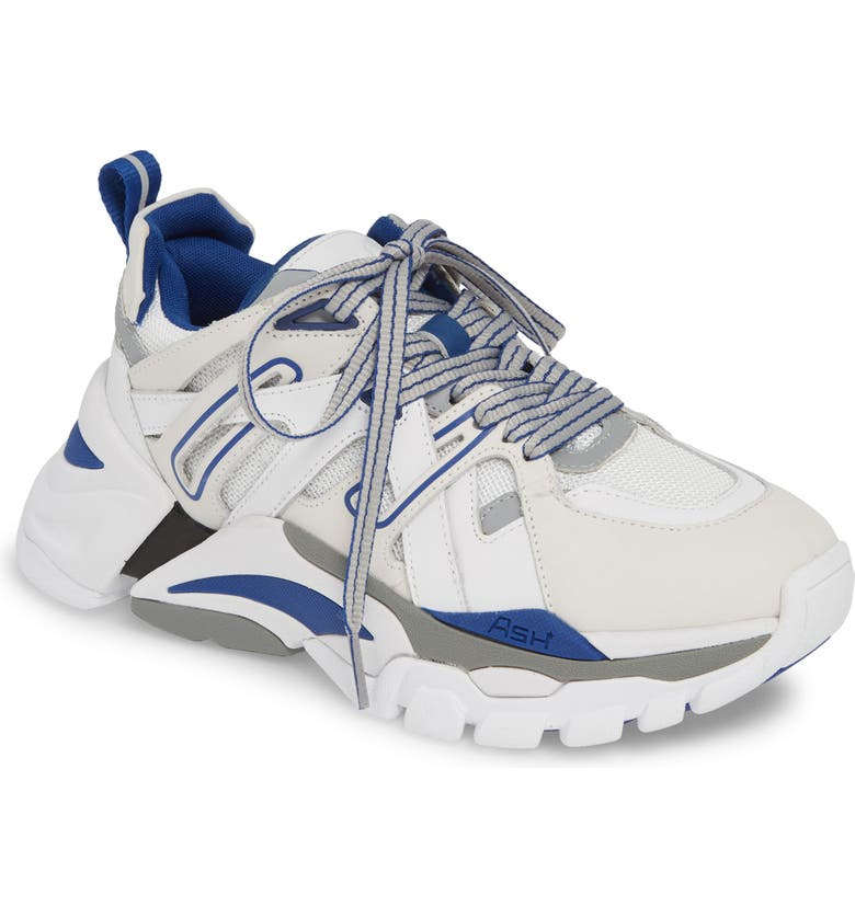 ASH Flash Sneaker, Main, color, WHITE/ SILVER/ NAVY