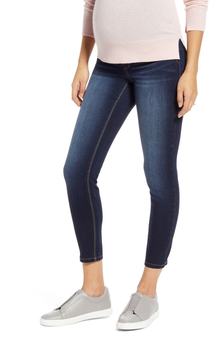 1822 DENIM Butter Ankle Skinny Maternity Jeans, Main, color, RAQUEL
