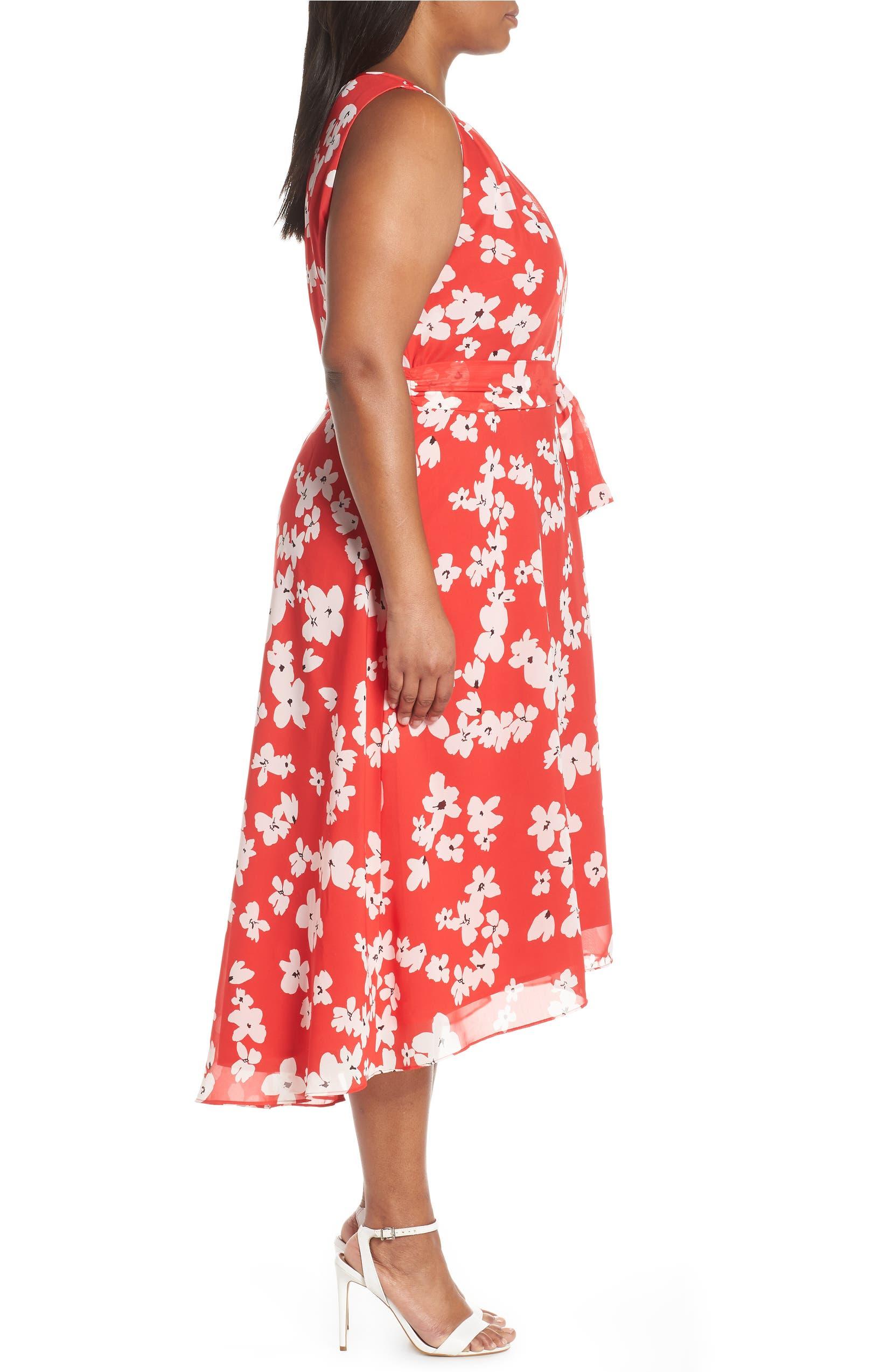 cdcf4364b44 Tahari Sleeveless Printed High Low Maxi Dress (Plus Size)