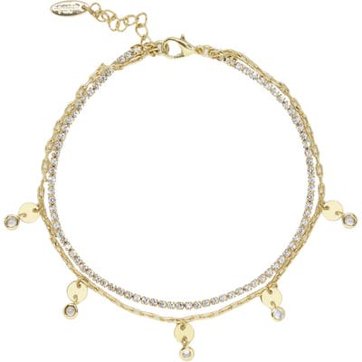 Ettika Crystal Layered Chain Anklet