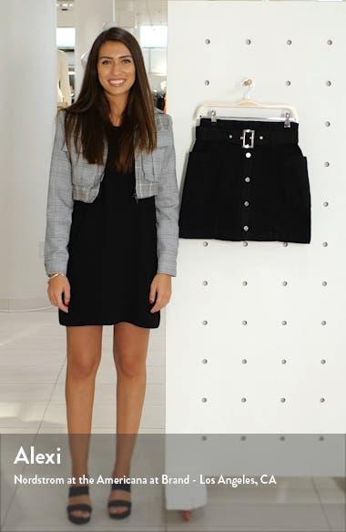 Button Front Belted Denim Miniskirt, sales video thumbnail