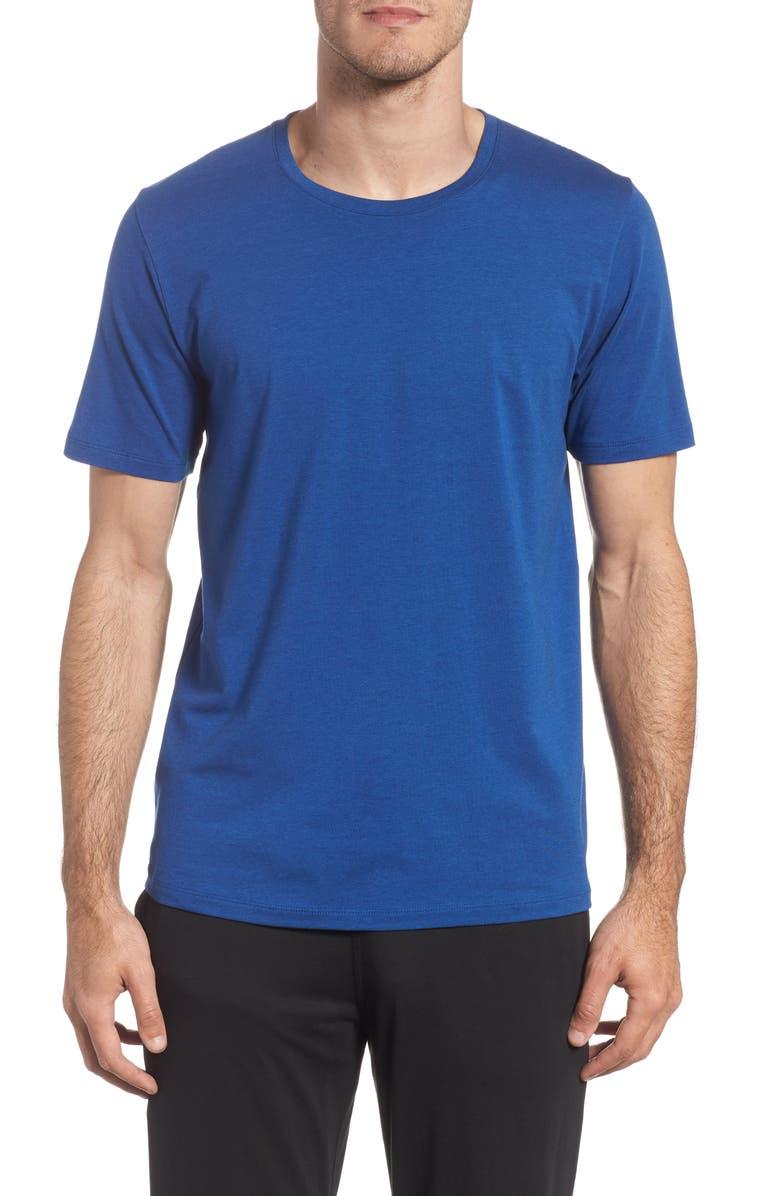 TOMMY JOHN Cotton Blend Crewneck T-Shirt, Main, color, BLUE