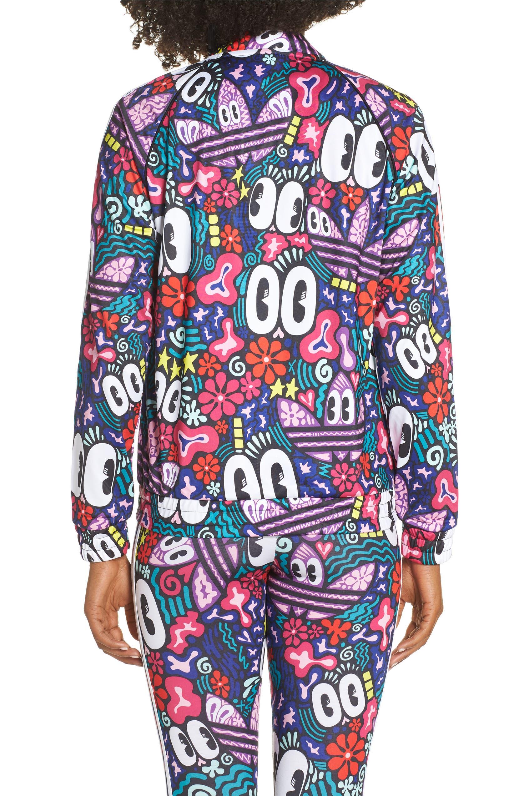 6a4ea8cce7a adidas Originals SST Doodlebomb Print Track Jacket
