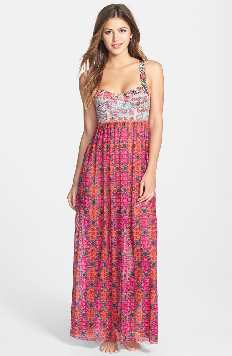 MAAJI 'Sublime Blimey' Cover-Up Maxi Dress, Main, color, 660