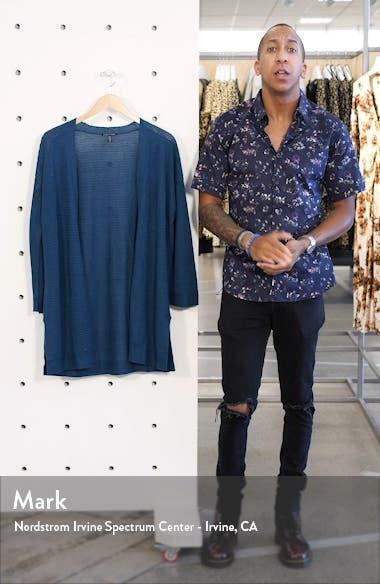 Organic Cotton & Linen Blend Open Front Cardigan, sales video thumbnail