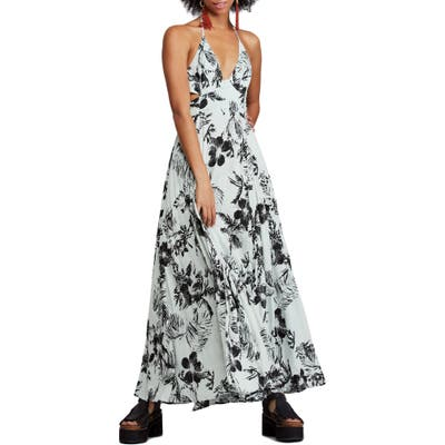 Free People Lille Print Maxi Dress, Blue