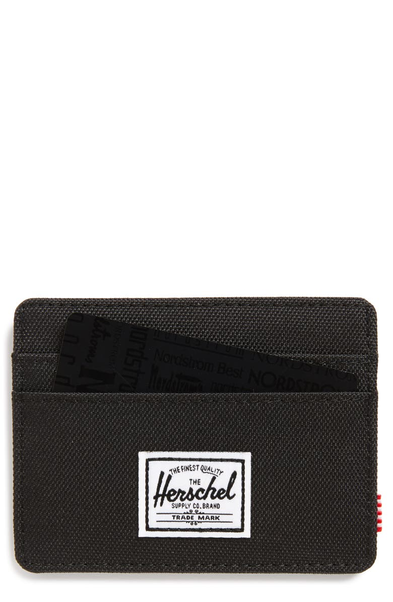 HERSCHEL SUPPLY CO. Charlie RFID Card Case, Main, color, BLACK