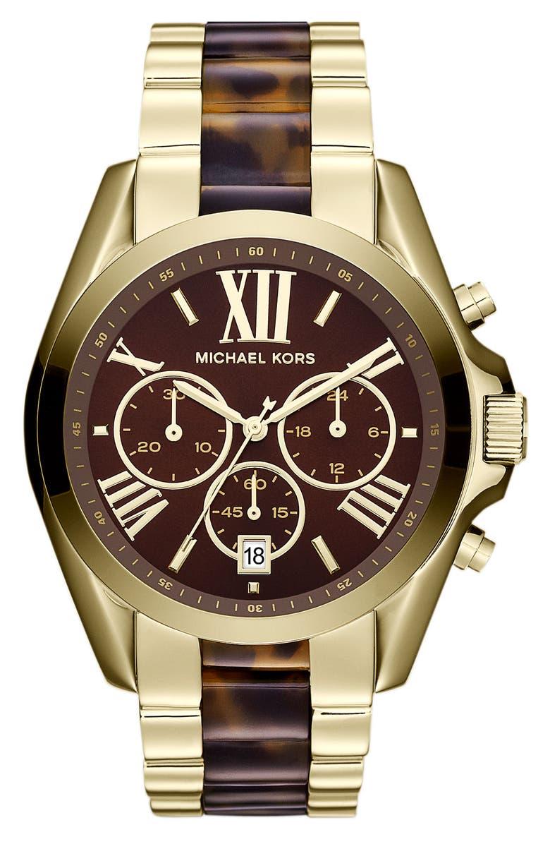 MICHAEL MICHAEL KORS Michael Kors 'Bradshaw' Chronograph Bracelet Watch, Main, color, 710