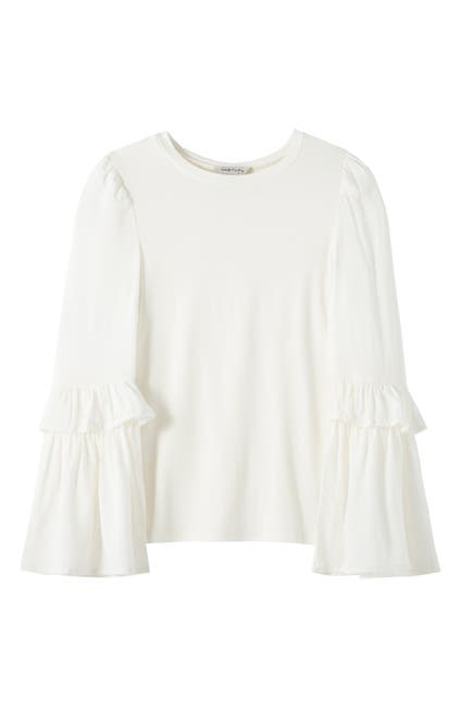Image of Habitual Kids Jersey Woven Bell Sleeve Top