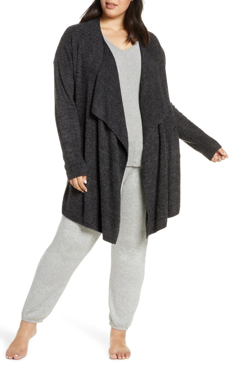 BAREFOOT DREAMS<SUP>®</SUP> CozyChic<sup>™</sup> Lite Island Cardigan, Main, color, HE CARBON/ BLACK