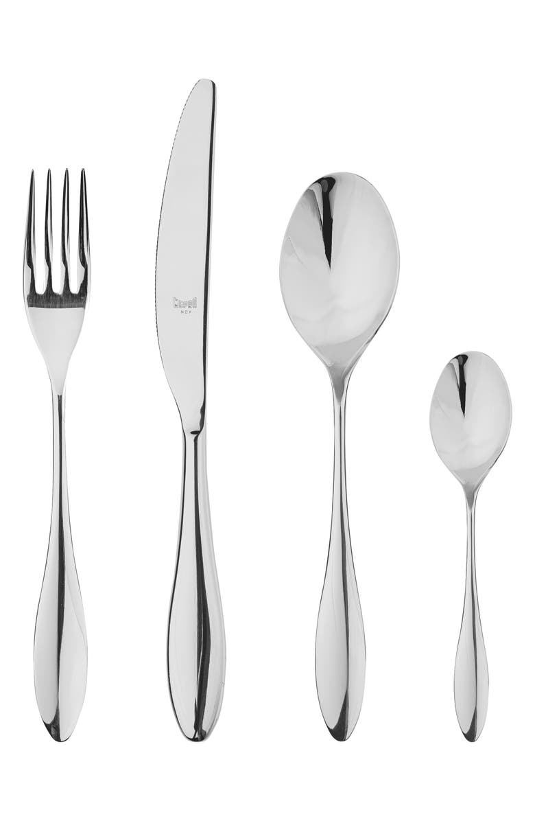 MEPRA Carinzia 24-Piece Flatware Set, Main, color, STAINLESS SHINY