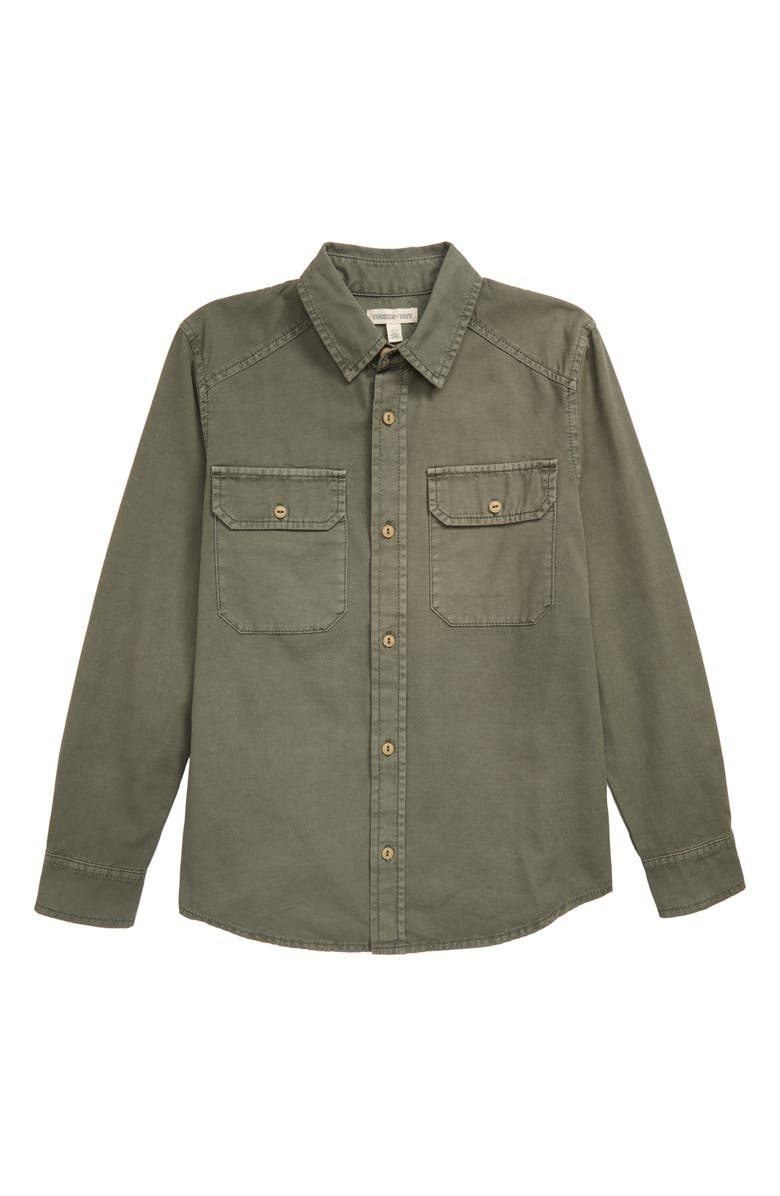 TUCKER + TATE Geocaching Utility Shirt, Main, color, GREEN BEETLE