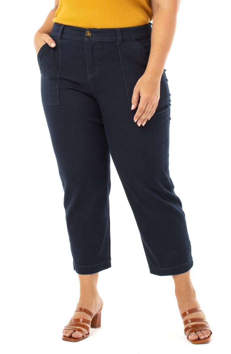 LIVERPOOL Stovepipe Trouser Jeans, Main, color, NAVY