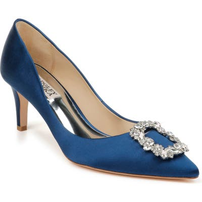 Badgley Mischka Carrie Crystal Embellished Pump, Blue