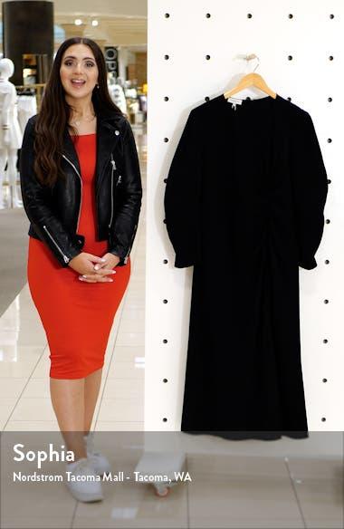 Collina Ruched Long Sleeve Midi Dress, sales video thumbnail